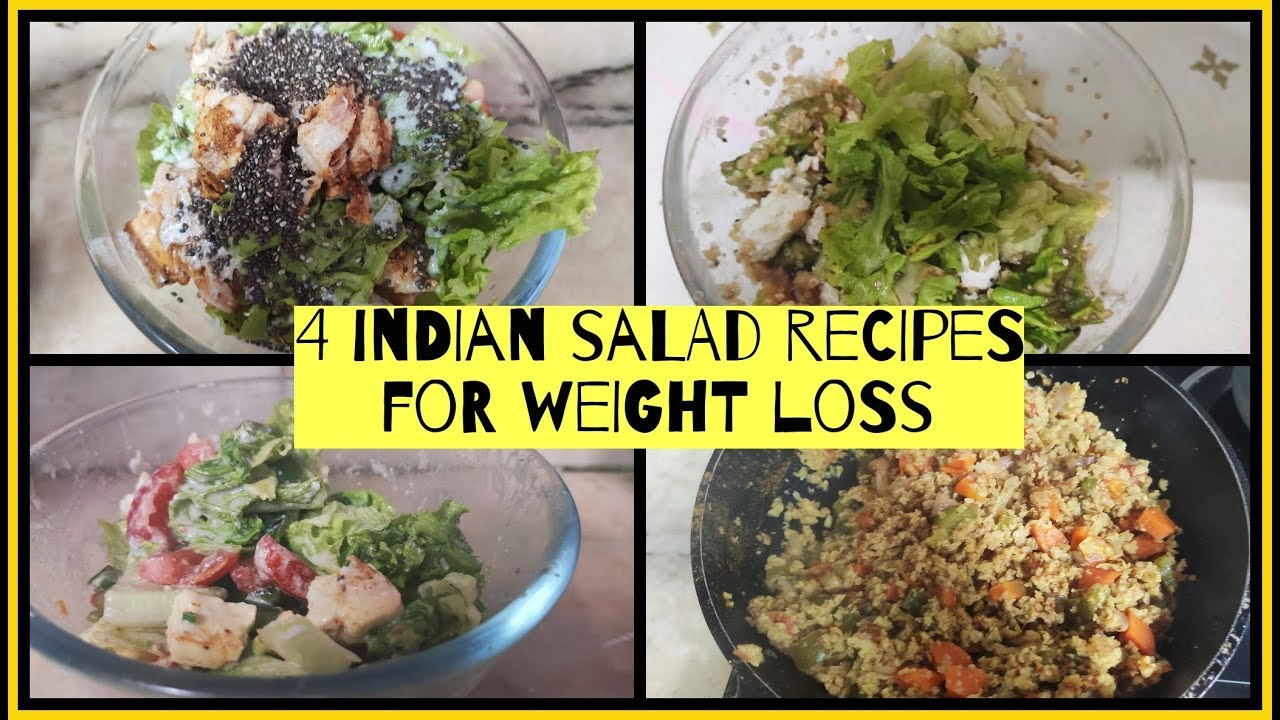 4 Salad Recipes For Weight Loss Healthy Salad Recipes For Weight Loss Azra Khan Fitness Ucook Healthy Ideas