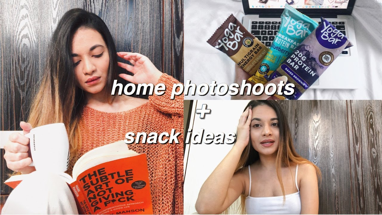 Home Vlog Ideas: VLOG : Snack Ideas + Home Photoshoots While In Quarantine